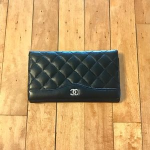 Authentic- Classic Chanel Quilted Flap Wallet